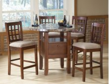 5 Pc Marble Top Dinette