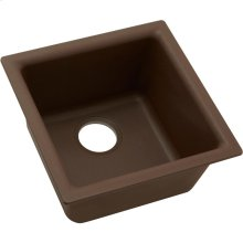 "Elkay Quartz Classic 15-3/4"" x 15-3/4"" x 7-11/16"", Single Bowl Dual Mount Bar Sink, Mocha"