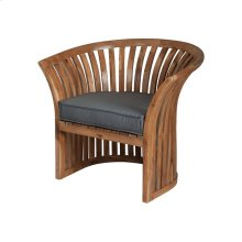 Teak Barrel Chair Cushion in Grey