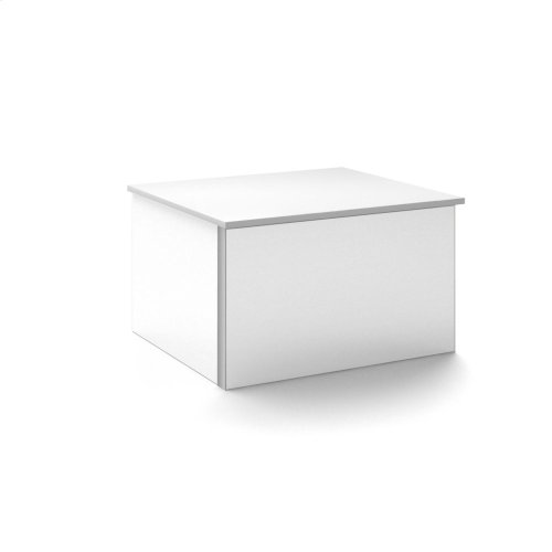"""V14 24-1/4"""" X 14"""" X 21"""" Wall-mount Vanity In White With Push-to-open Full Storage Drawer and Night Light"""