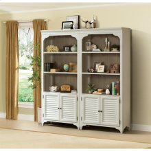 Myra - Bunching Bookcase - Natural/paperwhite Finish