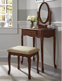 Woodland Cherry Vanity, Mirror & Bench