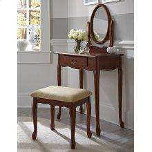 Woodland Cherry Vanity, Mirror & Bench