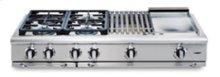 "48"" 4 Sealed 19K BTU/ Simmer Burners w/ 24"" Thermo-Griddle Rangetop"