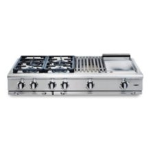 "48"" 4 burner w/ 12"" Infra-Q™ + Thermo-Griddle™ range-top - LP"