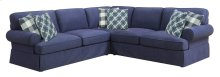 3pc Sect-lsf Love-rsf Love-corner-dk Blue#zw6391-10 W/3 Pillows #zk6007a-1 and 3 Pillows #zk6009-3