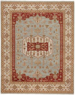 Estate-Voyage Lt. Blue Ivory Hand Knotted Rugs