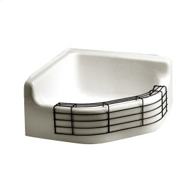 Florwell Cast Iron Wall Mounted Service Sink - White