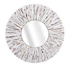 Sadie White Wooden Mirror