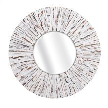 Sadie White Wooden Mirror