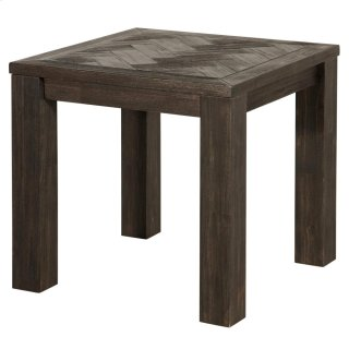 Wellington KD Herringbone End Table, Thames Dark Brown *NEW*