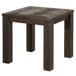 Wellington KD Herringbone End Table, Thames Dark Brown *NEW*