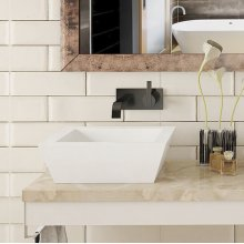 Kloey Square Above-counter Vitreous China Bathroom Sink