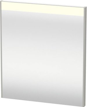 Mirror With Lighting, Concrete Grey Matt Decor Product Image