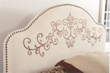1448QH  Queen Embroidered Headboard