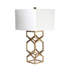 "Metal X-design Table Lamp 28""h, Gold"