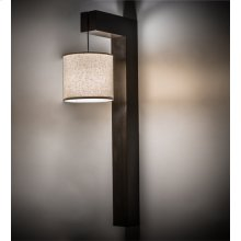 """12""""W Cilindro Hickory Wall Sconce"""