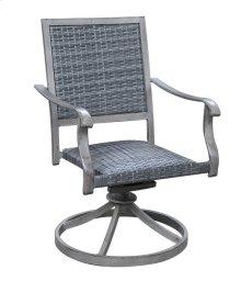 Swivel Rocker Dining Chair- Wicker Brown #em001 (2ea Per/ctn)
