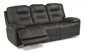 Royce Leather Power Reclining Sofa with Power Headrests