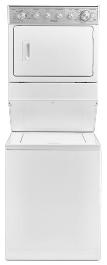 2.5 cu.ft Long Vent Electric Stacked Laundry Center 4 Wash and 6 Dry cycles