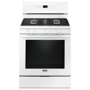 Maytag® 30-Inch Wide Gas Range With True Convection And Power Preheat - 5.8 Cu. Ft. - White - WHITE