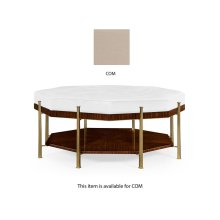 Octagonal Calista Cocktail Ottoman, Upholstered in COM