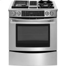 "Slide-In Modular Dual-Fuel Downdraft Range with Convection, 30"", Euro-Style Stainless Handle Product Image"