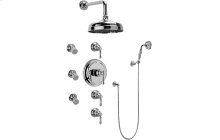 Nantucket Thermostatic Set w/Body Sprays & Handshower (Rough & Trim)