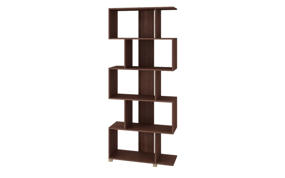 Petrolina Z- Shelf with 5 shelves in Nut Brown