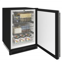 "1000 Series 24"" Convertible Freezer With Stainless Solid Finish and Field Reversible Door Swing (115 Volts / 60 Hz)"