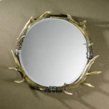 Stag Horn Round Mirror