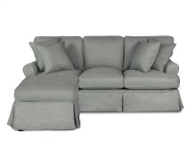 Sunset Trading Horizon Slipcovered Sleeper Sofa and Chaise - Color: 391094