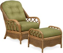 Everglade Wicker Chair and Ottoman