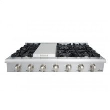 """48"""" Professional Gas Rangetop In Stainless Steel"""