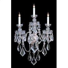 Traditional Crystal 3 Light Clear Crystal Chrome Sconce
