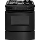 """Slide-In Modular Dual-Fuel Downdraft Range with Convection, 30"""", Black Floating Glass w/Handle Product Image"""