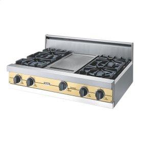 """Golden Mist 36"""" Open Burner Rangetop - VGRT (36"""" wide, four burners 12"""" wide griddle/simmer plate)"""