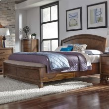 Queen Panel Storage Bed