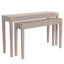 Glossy Taupe Nesting Console Table Set
