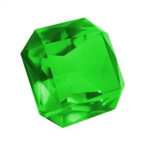 "Green Glass Diamond 2.25X4"""