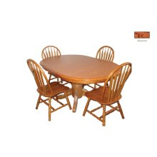 Solid Oak Single Ped. Table