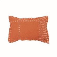 14X22 Hand Woven Kadin Pillow Rust