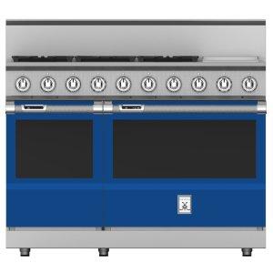 """Hestan48"""" 5-Burner Dual Fuel Range with 12"""" Griddle - KRD Series - Prince"""
