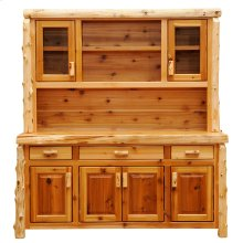 Buffet & Hutch - 75-inch - Natural Cedar