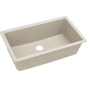 "Elkay Quartz Classic 33"" x 18-7/16"" x 9-7/16"", Single Bowl Undermount Sink, Bisque"