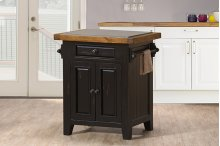 Tuscan Retreat® Small Kitchen Island - Black