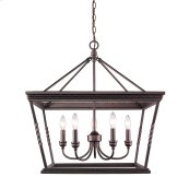 Davenport 5 Light Chandelier in Etruscan Bronze