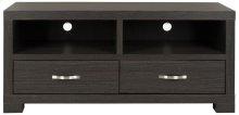 Monroe 2 Drawer TV Cabinet - Dark Grey / Charcoal. / Woodgrain