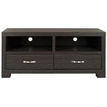 Monroe 2 Drawer TV Cabinet - Dark Grey/ Charcoal./ Woodgrain