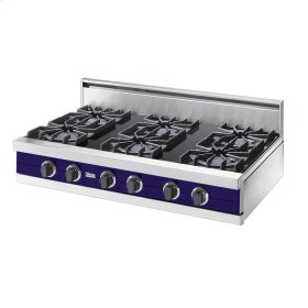 "Cobalt Blue 42"" Open Burner Rangetop - VGRT (42"" wide, six burners)"